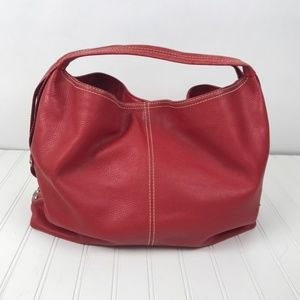 Large leather Red Tote